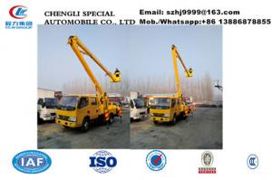 China 2018s new best price dongfeng 14m aerial working platform truck for sale, wholesale cheaper overhead working truck on sale