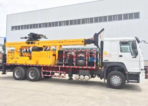 China Rotary Mobile Borehole Drilling Machine , Truck Mounted Water Well Drilling Equipment on sale
