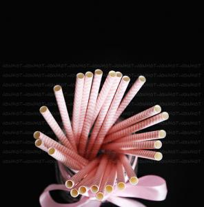 China Disposable ins dessert decorative environmental protection creative small fresh color paper straw supplier