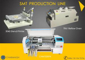 China Advanced SMT production Line, 4 heads pick and place machine CHMT530P4 , 3040 Printer, T961 Reflow oven on sale