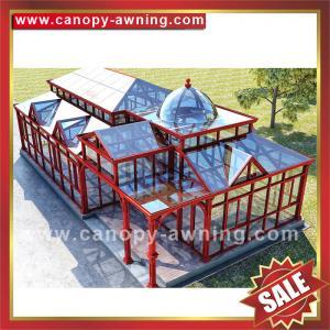 China super durable prefab solar villa garden glass metal aluminium aluminum alloy sunroom sun house cabin kits manufacturers on sale