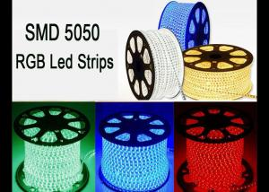 China RGB 120 Volt Led Strip Lights , RoHS High Voltage Color Changing Led Strip on sale