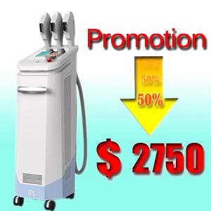 China Touch Control 3 handles IPL equipment Permanent Hair Removal Machine on sale