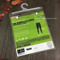 China Transparent Plastic Garment Hook Bags Clear PVC Hook bag with PP Hanger on sale