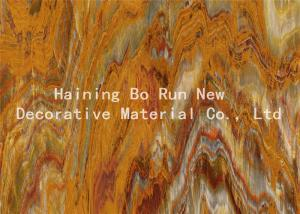 China Hot Press Wood Grain Vinyl Roll , Wood Grain Hydro Dipping Film Lightweight on sale