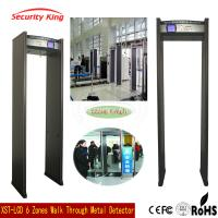 High Sensitivity Full Body Metal Detectors For Security Checking , Light And Sound Alarm