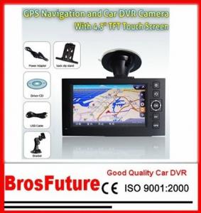 China Portable HD720P Vehicle Car Camera 4.3Inch TFT Display with GPS Function / Track Recording on sale
