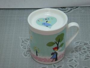 China Printing Glazed  insulated  porcelain Personalized Ceramic Mugs for valentine gifts   on sale