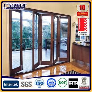 China Most popular aluminium folding doors with various opening ways on sale