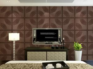 China Home Decoration Leather Wall Tiles Modern 3D Wall Panels Customized Size and Color on sale
