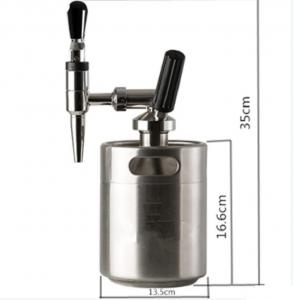 China BPA Free Stainless Steel Growler With Tap Nitro Coffee Tapping CO2 / N2 Dispenser on sale