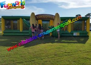 China EN71 Awasome Sports Games Inflatable Corn Laser Maze  With Digital Painting Farm on sale