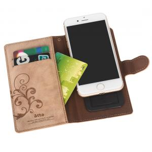 China Book Style Flip Cellphone Leather Case For iPhone 7 With ID Card Slots on sale