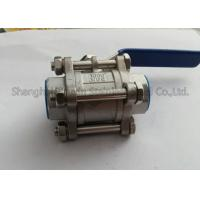 China 1000WOG PN63 Stainless Steel Fittings 3PC Ball Valve Internal Thread DN15 - DN50 on sale