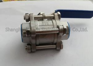 China hilo interno DN15 - DN50 de la vávula de bola de las colocaciones 3PC del acero inoxidable de 1000WOG PN63 on sale