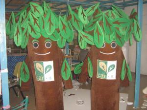 Quality adult plush customized tree mascot costumes of custom design for sale