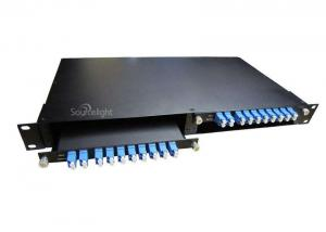 China Cwdm Dwdm Fiber Optic Mux Demux 8ch With 1310nm Monitor Port 100ghz Module on sale