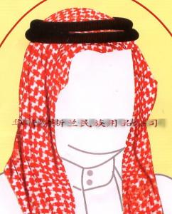 China Arabian head hoop  /  Arab turban + head hoop /  Arabian agal on sale