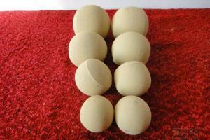 China AL2O3 65% Inert Alumina Balls , Castable Alumina Ceramic Ball Customized Size on sale
