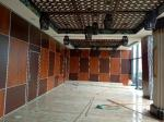 Soundproof Wood Mobile Sliding Partition Walls For Conference Hall Customized Color