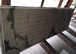 China Modern Prefab Kitchen Countertops Arabescato White Marble OEM Service on sale