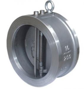 China Carbon Steel Cast Check Valve Wafer Ends Double Disc 100% Leak Proof Sealing on sale
