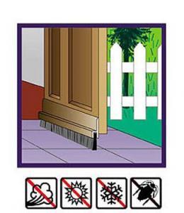 Dust Stop Door Seal Brush