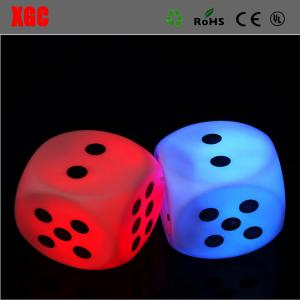 China LED Glow Dice Game Toy For Party Fun Adult Couple Novelty Gift Casino Dice Lucky Game Bar Pub LED Light Sign Set for Boa on sale