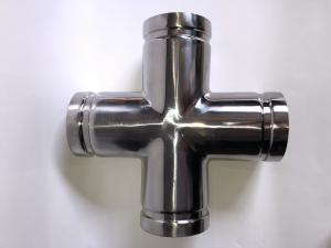 China 304 / 316 Stainless Steel Grooved Cross / Grooved Equal Cross High Strength on sale