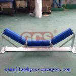 GCS company polyethylene conveyor roller idler of China /heavy duty conveyor mining idler trough grooved conveyor roller