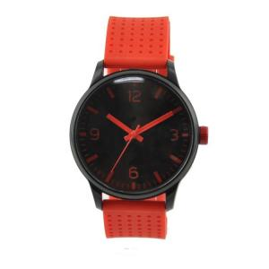 China Complete Calendar Silicone Sports Watch With Rubber Bands Black Alloy Case on sale