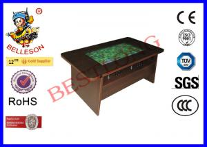 China 32 Inch Screen Arcade Coffee Table At Game Stores Wooden Color Drawer Style on sale