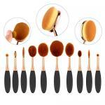10 Piece Fiber Full Makeup Brush Set , Soft Toothbrush Foundation Brush