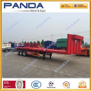 China PANDA 3 axle 40ft flat bed trailer, 40T flatbed trailer with stake sale for middle east on sale