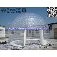 0.8mm Transparent PVC Inflatable Bubble Tent / Airtight Clear Dome Tent For Party