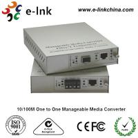 E-link 10 / 100M One to One Manageable Fast Ethernet Media Converter with Internal Power Supply