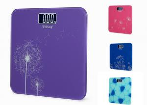 China Collision Avoidance Electronic Bathroom Scales With Big Blue LED Display on sale