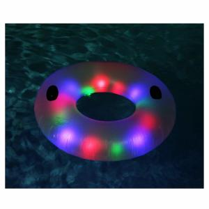 China LED Swimming Ring Floating Rafts Inflatable Illuminated Deluxe Tube For Adults on sale