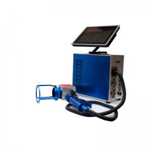 China Blue Colour 30w Small Laser Etching Equipment , Metal Laser Engraving Machine on sale