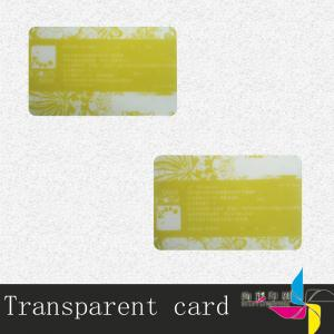 China Colorful Print Magnetic Stripe Transparent PVC Card With Bar Code Advertising on sale