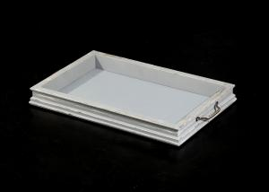 "China 18""x11"" Rectangle Wood Jewelry Trays With Two Silver Handles , Exotic Wood Jewelry Box on sale"
