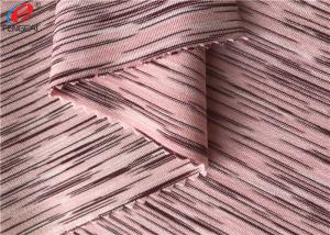 China 4 Way Stretch Weft Knitted Melange Fabric Yard Dyed Single Jersey Fabric For T-shirt on sale