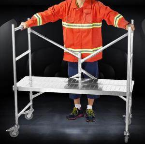 China Aluminum Mini Type Foldaway Rolling Mini-Scaffold Ladder Platform on sale