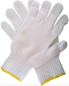 China Soft Breathable Cotton Knit Work Gloves , White Industrial Hand Gloves on sale