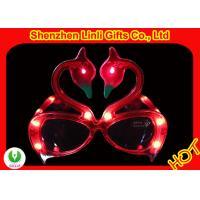 customized logo LED flashing toys swans shape plastic LED party glasses FA12093
