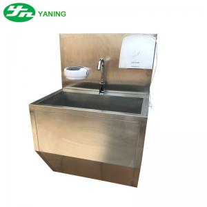 China One Person Stainless Steel Medical Hand Wash Sink With Hand Dryer For Food Industry on sale