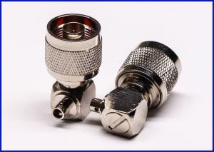 China Right angle type N male RF connector welded coaxial cable on sale