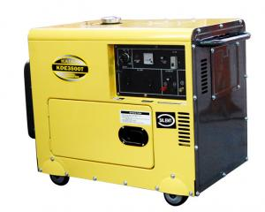 China Electric Starter 3 Phase Silent Diesel Generator Set 60HZ KDE3500T3 on sale