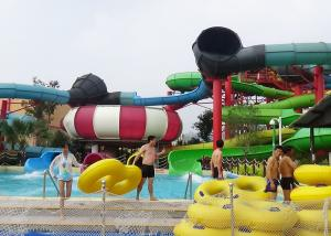 Quality Big Combination Fiberglass Adult Water Slide High Speed For Water Park for sale