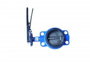 China Sewage Butterfly Valve Wafer Cast Iron Body EPDM Seat Lever Operator on sale